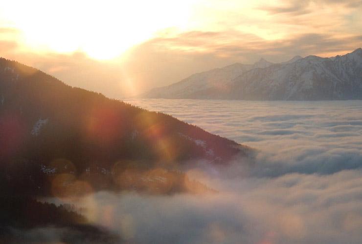 bergen zonsopkomst